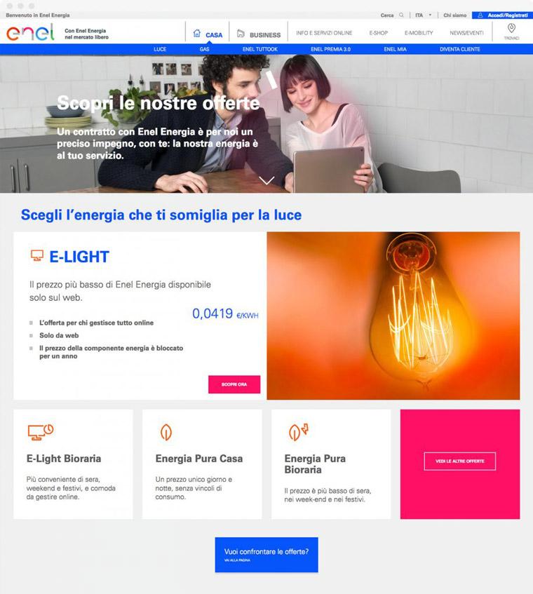 Enel Energia pagina offerte desktop