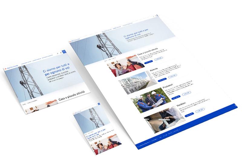e-distribuzione mockup clienti